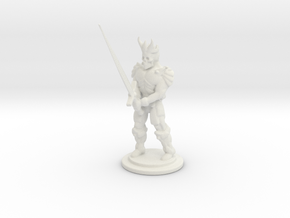 The Dead King Mini 28mm in White Natural Versatile Plastic