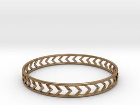 Arrow Bracelet Medium in Natural Brass