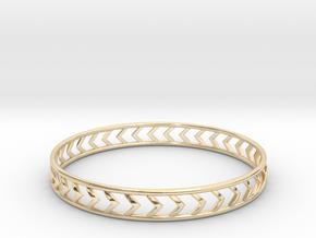 Arrow Bracelet Medium in 14k Gold Plated Brass