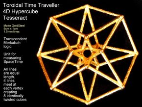 Sacred Geometry: Toroidal Hypercube 50mmx1.5mm  in White Strong & Flexible
