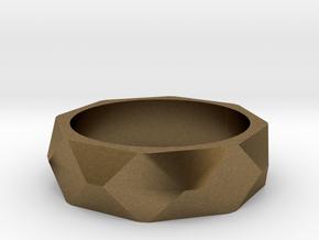 Geometric Ring in Natural Bronze: 5 / 49
