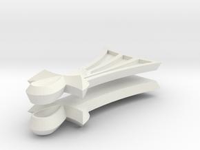 Pharaoh Atem Earrings (Full-Size) in White Natural Versatile Plastic