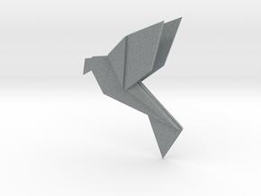 Origami colibri in Polished Metallic Plastic