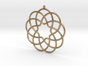 Cyclic-harmonic Pendant in Polished Gold Steel