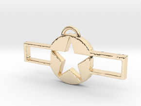 WWII Pendant 2 in 14k Gold Plated