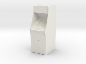 Classic Arcade Machine     in White Natural Versatile Plastic