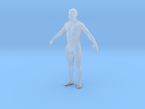 Strong male body 003 scale in 10cm in Smoothest Fine Detail Plastic: Extra Small