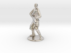 Jaffa Attack Pose - 20mm in Rhodium Plated Brass