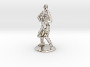 Jaffa Attack Pose - 20mm in Rhodium Plated Brass