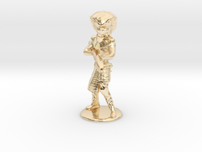 Serpent Guard Attack Pose - 20mm in 14k Gold Plated Brass