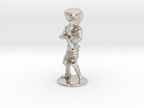 Serpent Guard Attack Pose - 20mm in Rhodium Plated Brass
