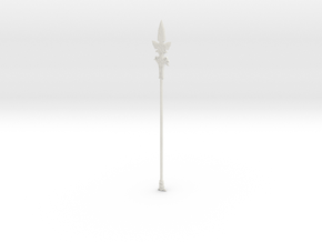 """BotW"" Forest Dweller's Spear in White Natural Versatile Plastic: 1:12"