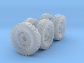 1/72 Set of Australian LRPV Land Rover Wheels in Frosted Ultra Detail