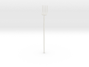 """BotW"" Farmer's Pitchfork in White Natural Versatile Plastic: 1:12"