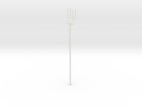 """BotW"" Farmer's Pitchfork in White Natural Versatile Plastic: 1:12"