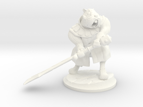 Gregario the Half-Hamster warrior in White Processed Versatile Plastic