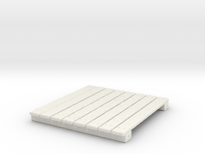 Wooden Deck for Tabletop Wargaming in White Natural Versatile Plastic
