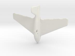 1:285 ME-163 in White Natural Versatile Plastic