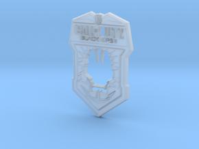 Black Ops II logo in Smooth Fine Detail Plastic