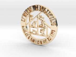RCS Business Token in 14k Gold Plated Brass