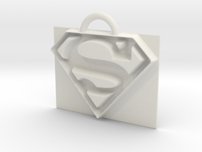 Superman logo in White Natural Versatile Plastic