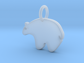 Bear Charm in Smooth Fine Detail Plastic