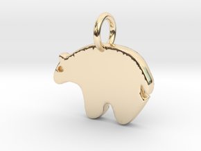 Bear Charm in 14K Yellow Gold