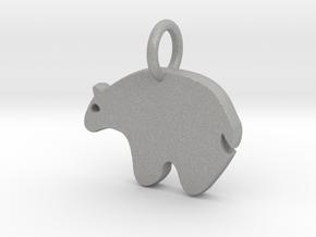 Bear Charm in Aluminum