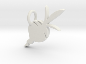 Beet Charm in White Natural Versatile Plastic