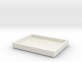 1/87 Under Body Tool Box #1 in White Natural Versatile Plastic