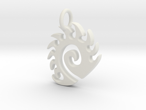 Zerg Charm in White Natural Versatile Plastic