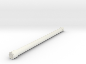1/87 Hard Suction Hose in White Natural Versatile Plastic