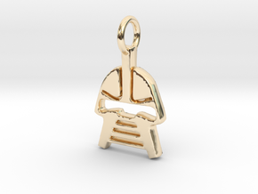 Cylon Charm in 14K Yellow Gold
