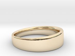 Ring Clean in 14k Gold Plated Brass: 8.75 / 58.375