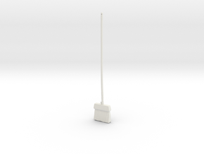 """BotW"" Wooden Mop in White Natural Versatile Plastic: 1:12"