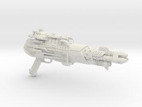 Tri-barrel Blaster for 3A Optimus Prime in White Natural Versatile Plastic