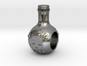 unicum bottle charm in Polished Silver