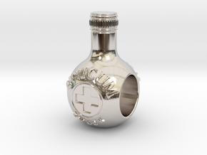 unicum bottle charm in Platinum