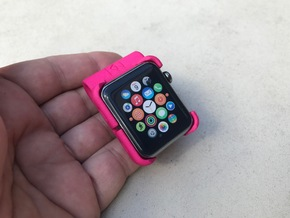 Apple Watch - 42mm Clip On in Pink Strong & Flexible Polished