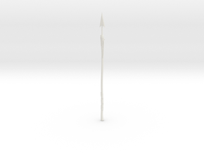 """BotW"" Fishing Harpoon in White Natural Versatile Plastic: 1:12"