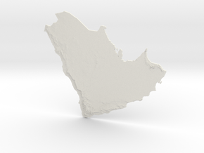 Arabian Peninsula, 1:6000000 in White Natural Versatile Plastic