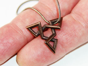 TRIAD in Polished Bronze Steel
