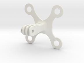 Dampening Buckle in White Natural Versatile Plastic