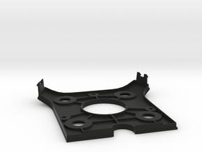 Bottom Plate in Black Natural Versatile Plastic