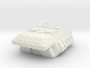 Combat Flatbed-Overhang Camper APC Pod in White Strong & Flexible
