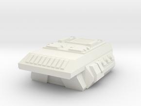 Combat Flatbed-Overhang Camper APC Pod in White Natural Versatile Plastic
