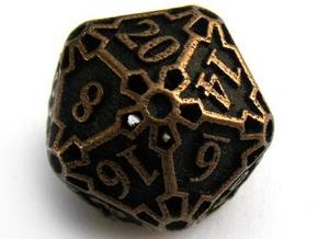 Large Die20 in Stainless Steel