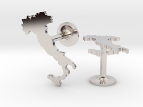 Italy Cufflinks in Rhodium Plated Brass