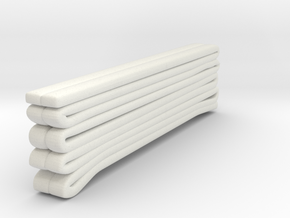 1/87 Seagrave Hose Load 2 in White Natural Versatile Plastic