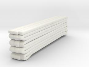 1/87 Seagrave Hose Load 3 in White Natural Versatile Plastic